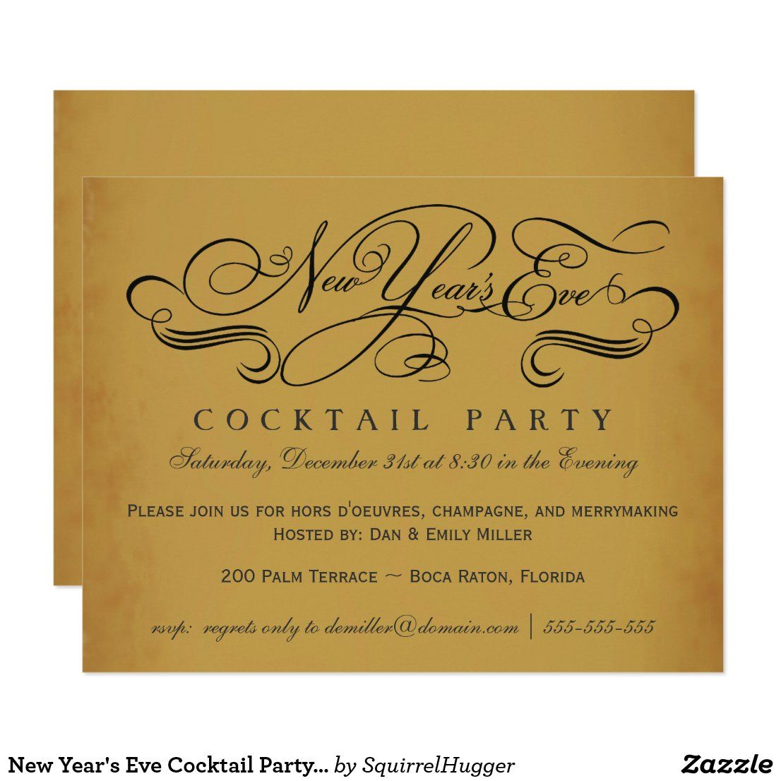 New Year S Eve Cocktail Party Vintage Invitations Zazzle Com New Year S Eve Cocktails Vintage Invitations New Years Eve Invitations