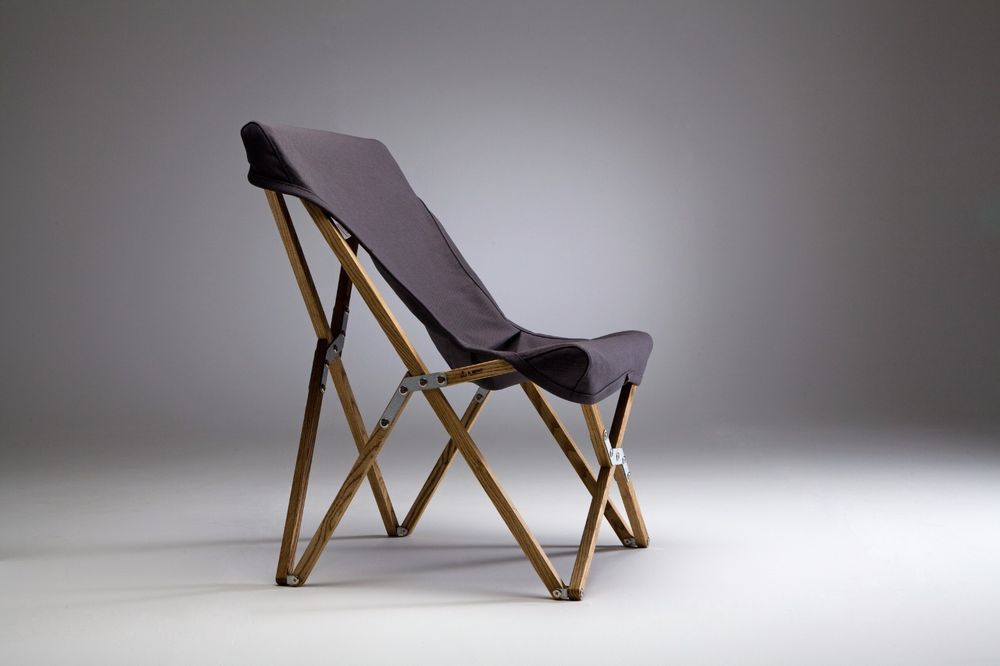 Nice A.MIND Tripolina Butterfly Chair / Wood Canvas Folding Camping Chair Awesome Design