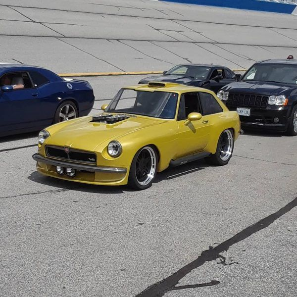1974 Mgb Gt With A Coyote V8 Engine Swaps Import Cars Cars