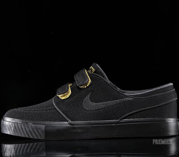 superior quality acc3c 0c9c6 Fashionable Sneakers You Can Wear To Work. Nike SB Stefan Janoski  Velcro-Black-Varsity Maize