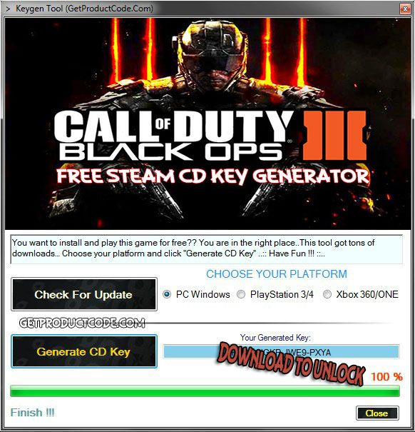 licence key for cod black ops 3