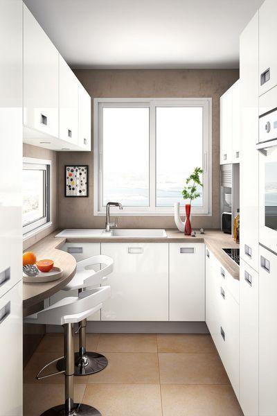 Une cuisine snack. | Wohnen | Small kitchen layouts, Little kitchen ...