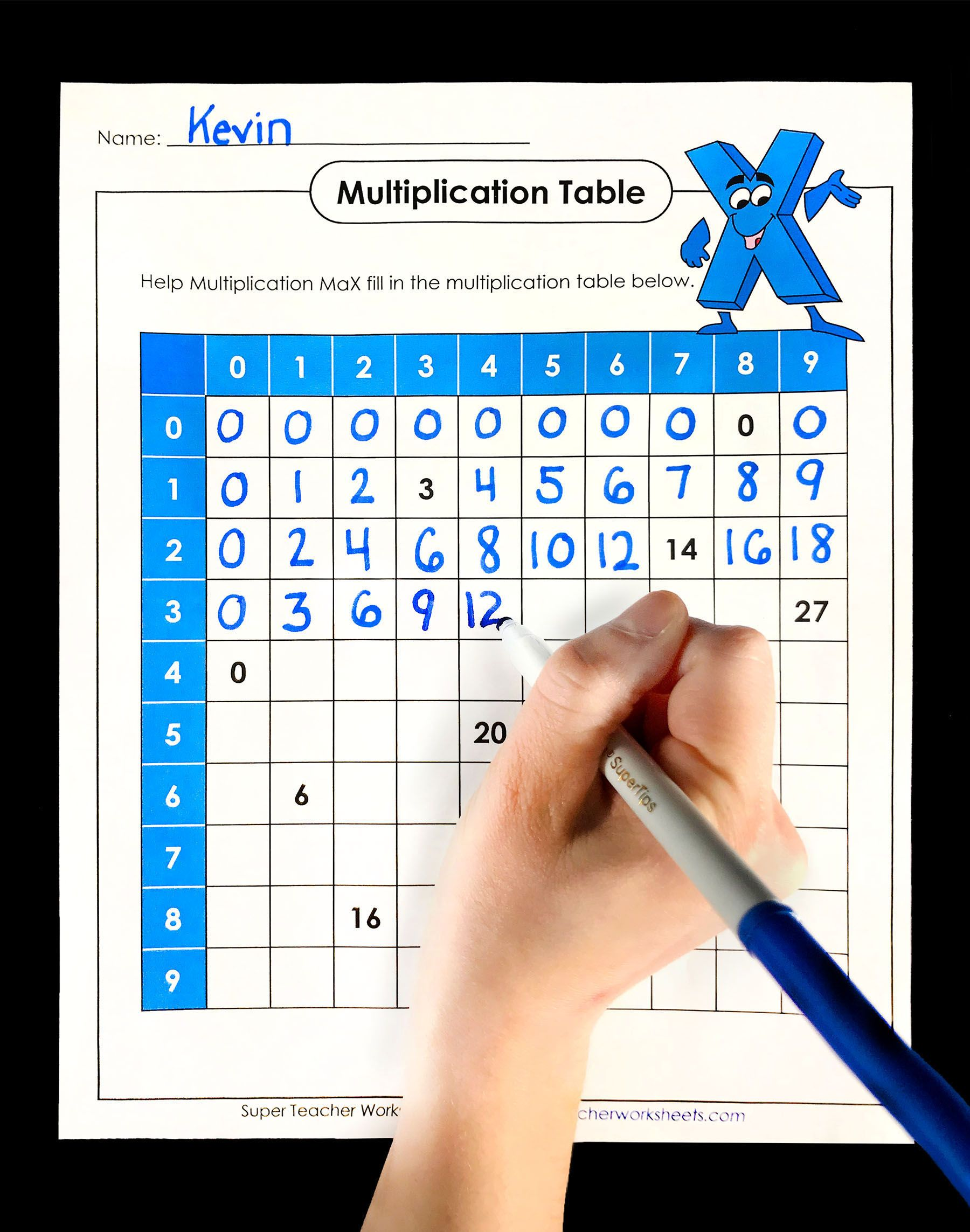 Can Your Students Help Multiplication Max Fill Out His