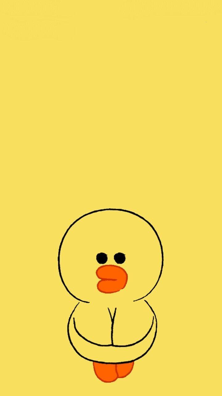 Sally Duck Blue Line Character Ducks Ilustrasi Lucu Kartun Wallpaper Lucu
