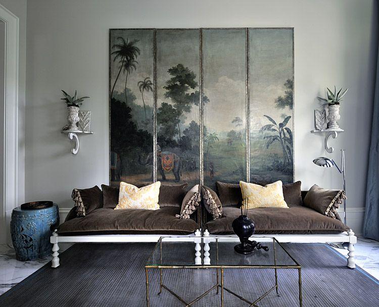 painted folding screen interior design custom interiors interior