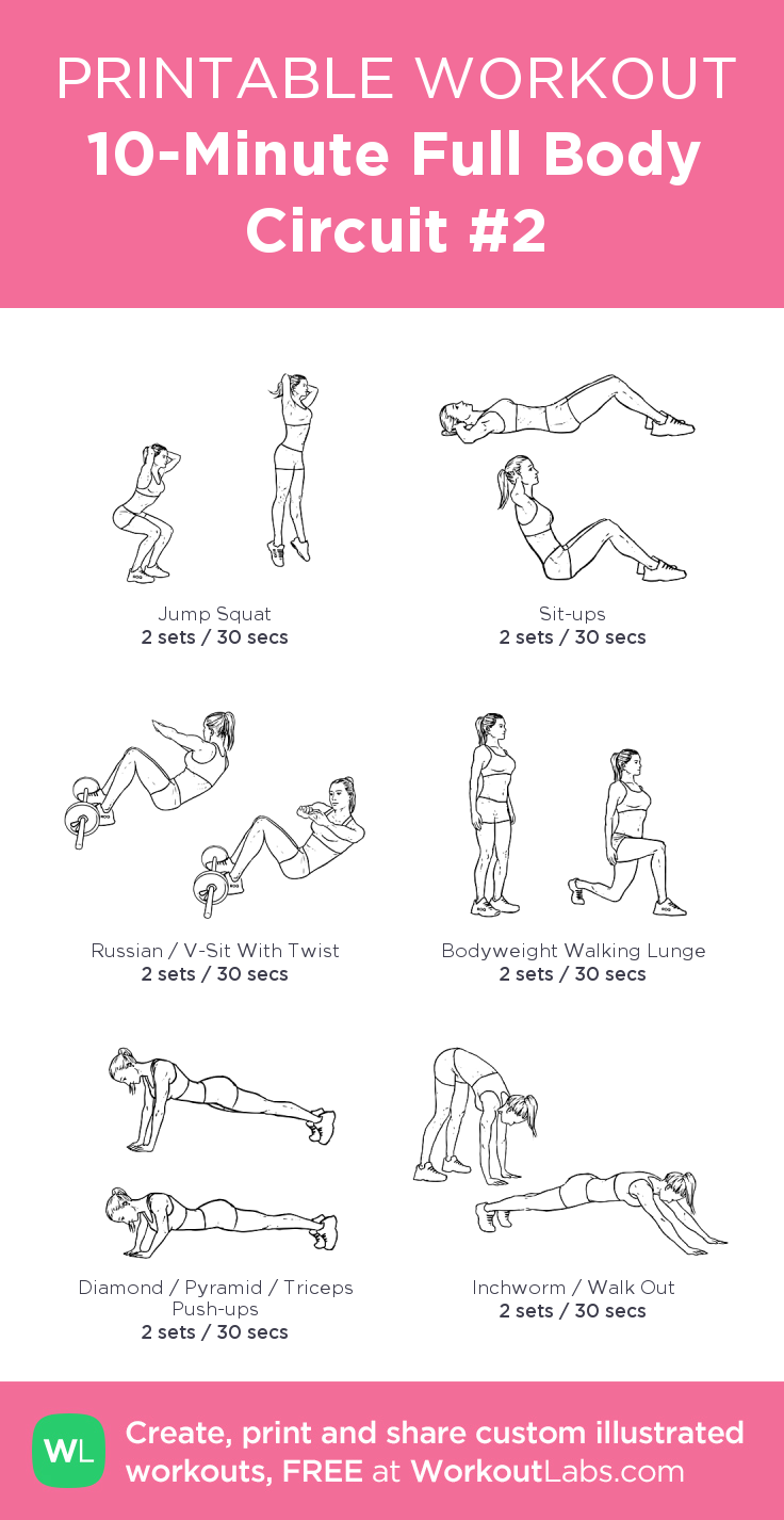 10-Minute Full Body Circuit #2 | Work out | Pinterest