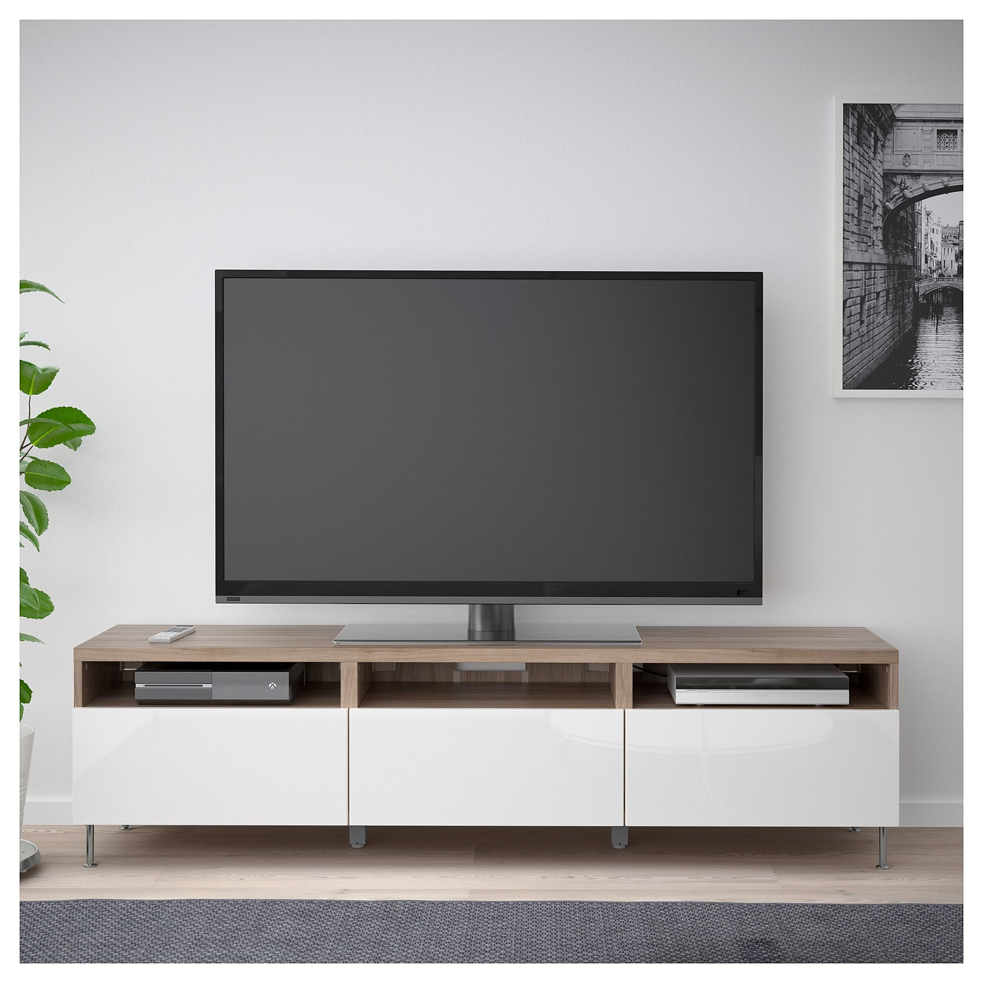 Ikea Meuble Tv Led BestÅ Tv Unit With Drawers Lappviken White In 2019 Home Ideas