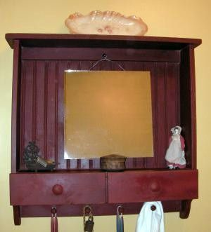 Primitive Bathroom Wall Cabinet With