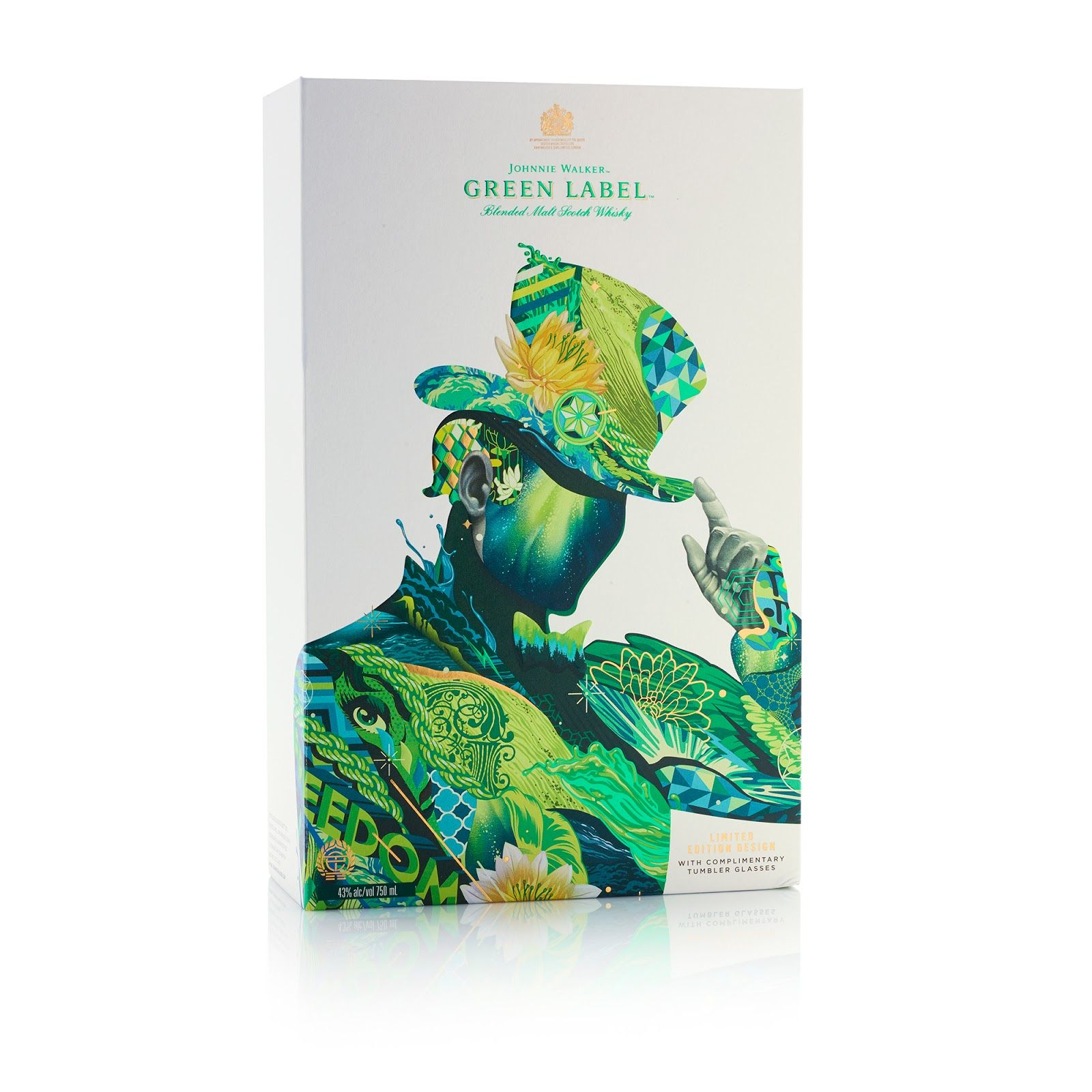 johnnie walker green label diageo s artist series 2017 branding rh pinterest com