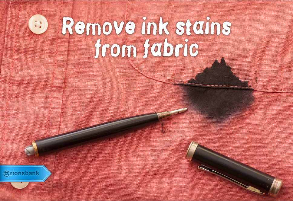 Use Hairspray To Remove Ballpoint Pen Ink From Fabric Be Sure Not To Let The Hairspray Dry Aeroso Ink Stain Removal Remove Ink From Clothes Diy Stain Remover
