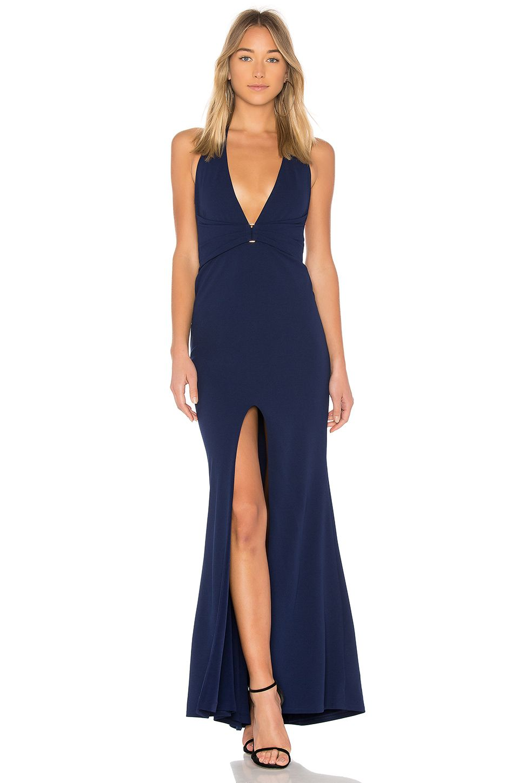 Nookie Mariah Halter Gown en Azul marino | REVOLVE | dress 1 ...