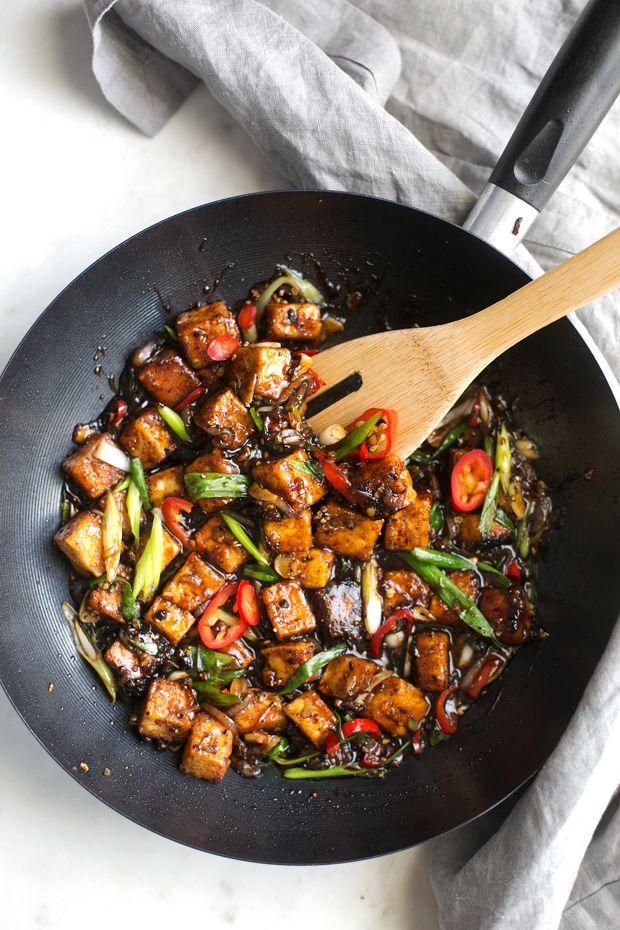 Black Pepper Tofu Stir Fry Tofu Stir Fry Stuffed Peppers Food Recipes