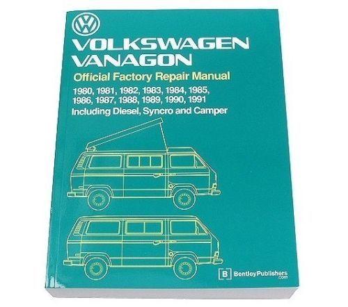 For Vw Vanagon Diesel Syncro Camper 80 91 Bentley Repair Manual Vw8000148 Repair Manuals Vw Vanagon Repair