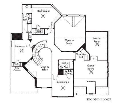 Van Gogh 3854 Model Homes Village Builders Floor Plans