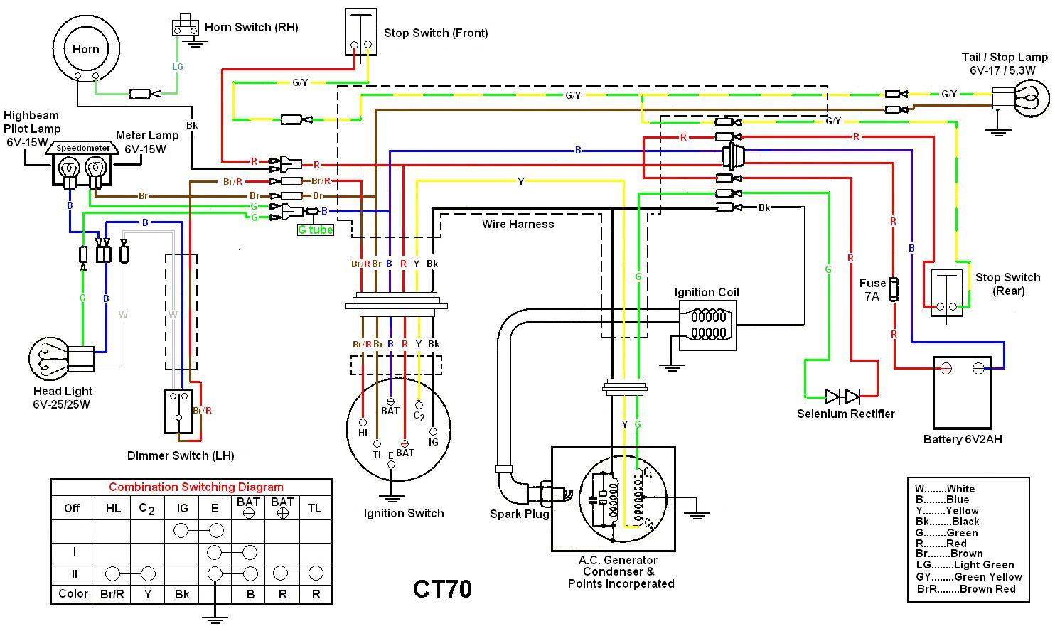 honda nice wiring diagram 72 wiring diagram | honda ct70 | pinterest | diagram and honda #14