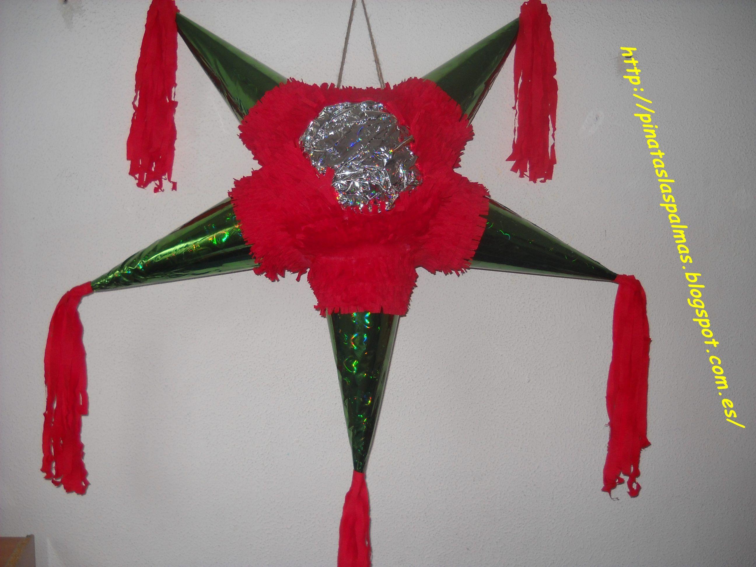 Pinata Estrella De Navidad Pinata De Picos Pinatas Originales Navidenas Pinatas Tradicionales