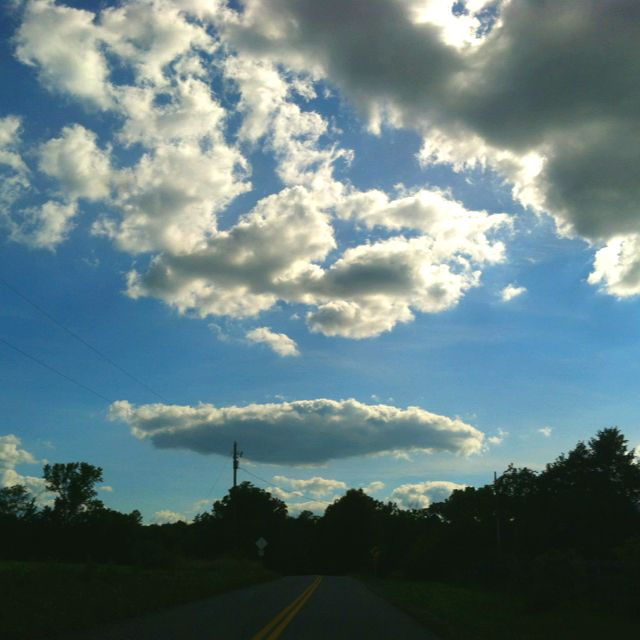 Just another day in the neighborhood! But it sure is beautiful to be on the way home.