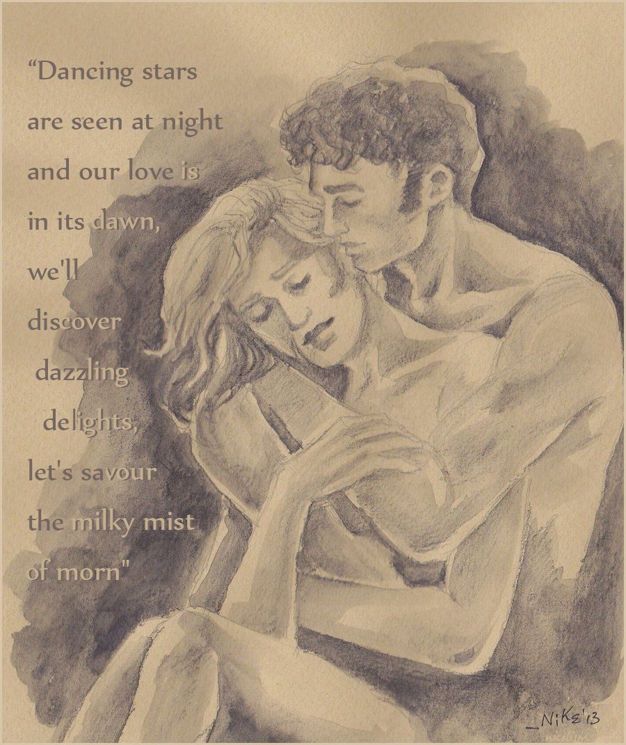Dancing stars are seen at night and our love is in its dawn, we'll discover dazzling delights, let's savour the milky mist of morn #Nicolism