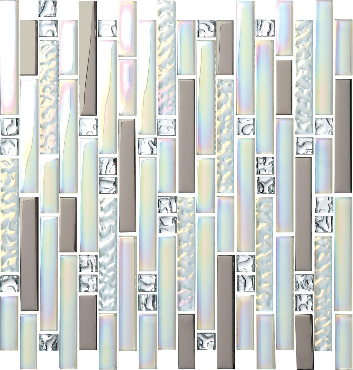luxury hotel multicolor decorative mosaic tile linear wall mosaic