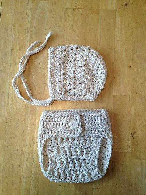 Ravelry  Vintage Star Baby Bonnet pattern by Crochet by Jennifer ... 67987e84b99