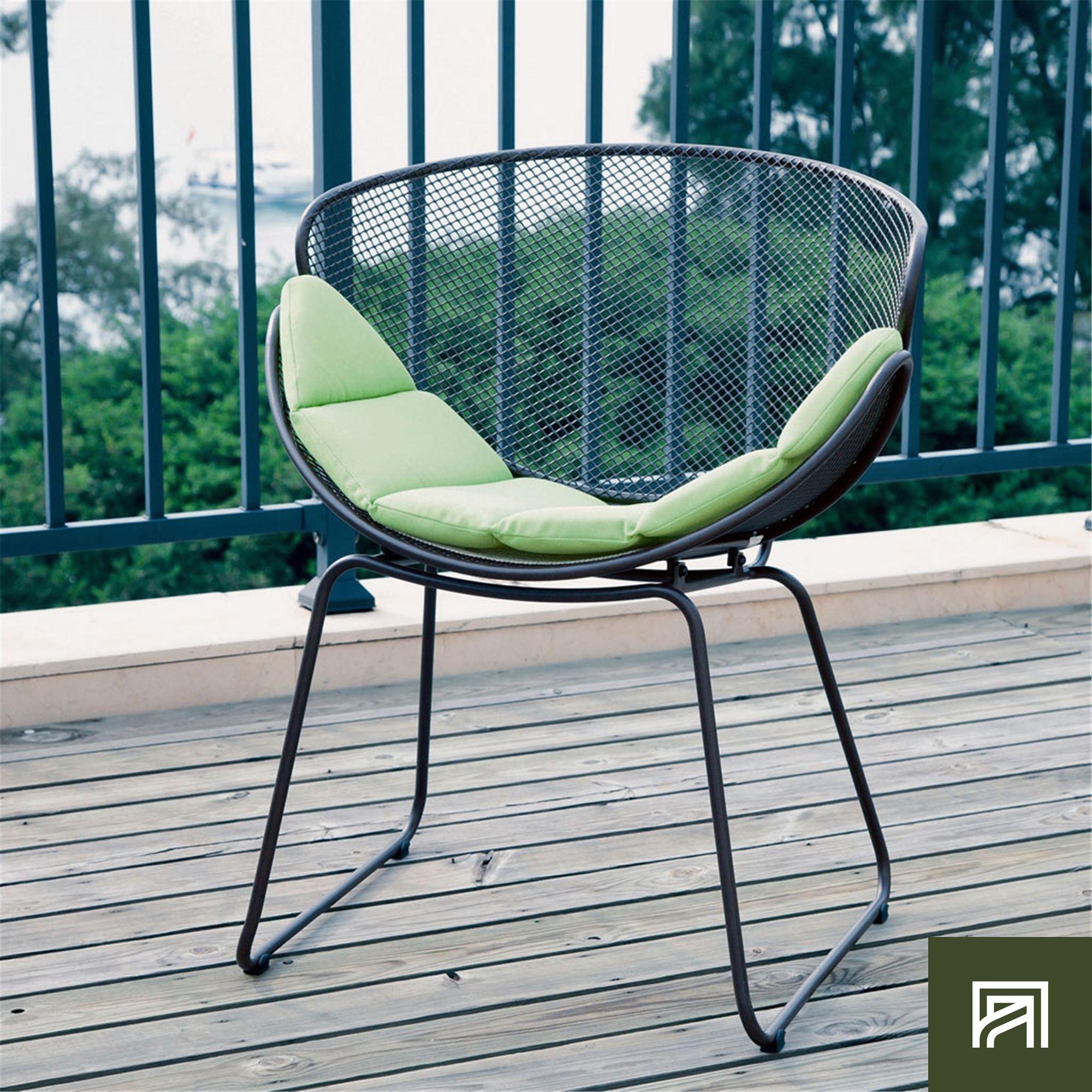 Alinea rome fauteuil de jardin relax gris en acier t le Alinea jardin mobilier