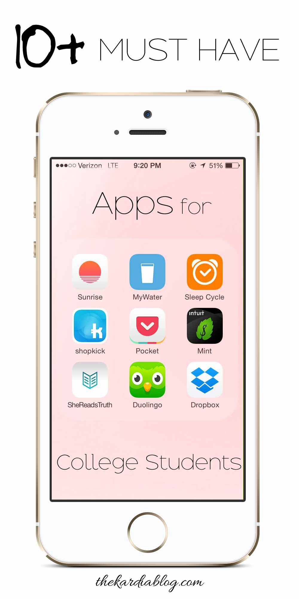 10 Must Have Apps for College Students! Save time by being