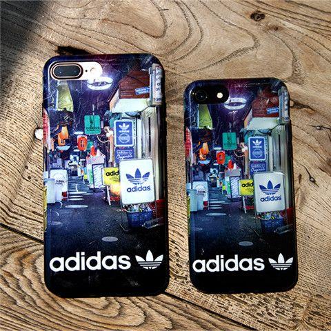adidas アディダス iphoneX ケース ブランド 運動風 iphone8 オシャレ ユニーク 街路の景色 iPhone7plus アイフォン8