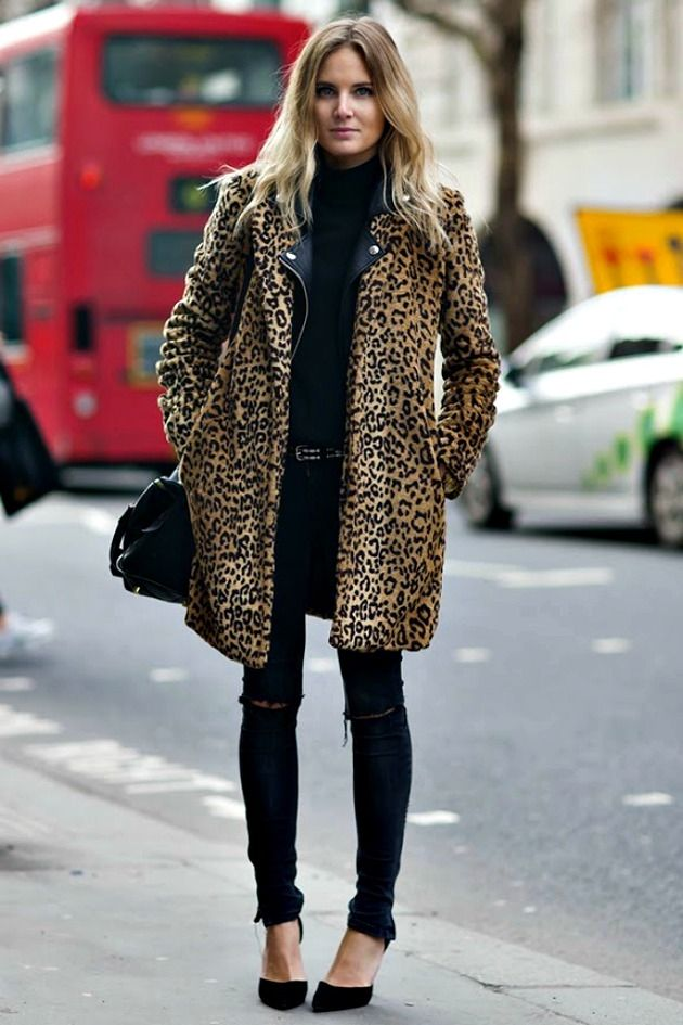 81c477a35a8c Love Her Look: Leopard Print Coat in 2019 | Street style | Fashion ...