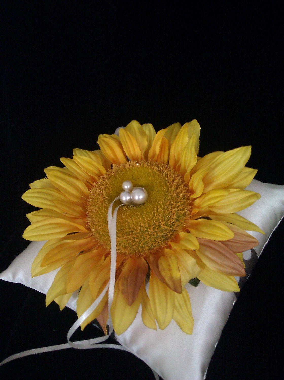 Sunflower ring bearer pillow! Ring bearer wedding