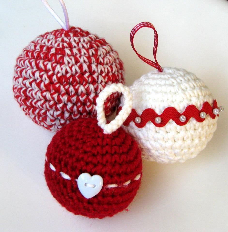 Esferas tejidas navidad pinterest esferas y navidad - Adornos navidenos crochet ...