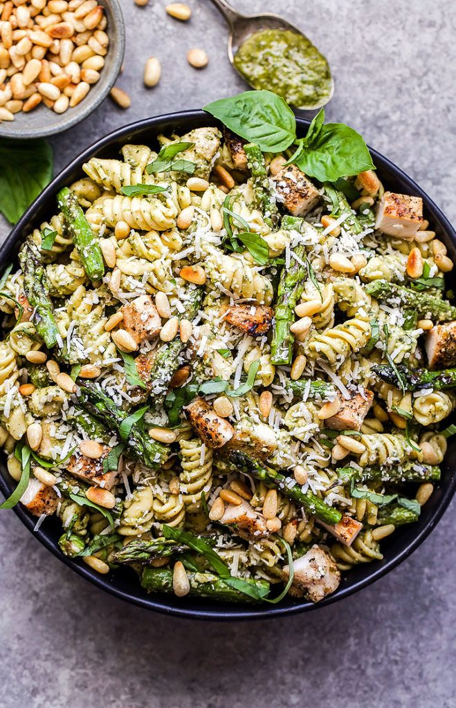 Grilled Chicken and Asparagus Pesto Pasta Description: Grilled Chicken and Asparagus Pesto Pasta #weeknightdinners