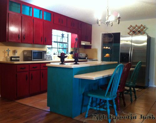 Kitchen Makeover with Chalk Paint at High Falootin Ranch ...
