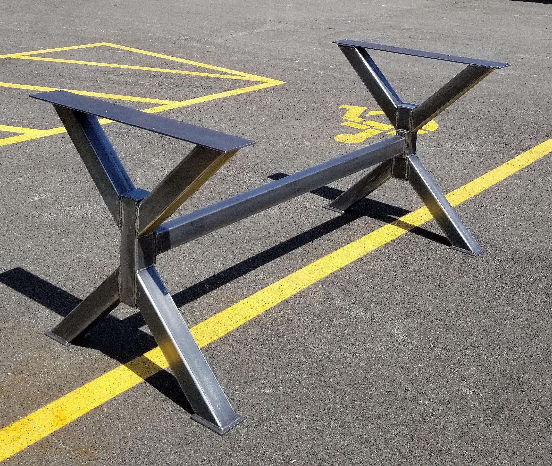 New Design Trestle Table Legs With 1 Brace Model Tr12nb1 Heavy Duty Sturdy Metal Legs Industrial Legs Dining Table Legs Trestle Table Legs Metal Table Legs