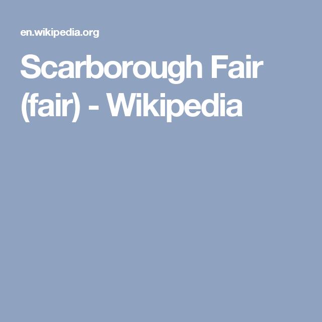Scarborough Fair (fair) - Wikipedia