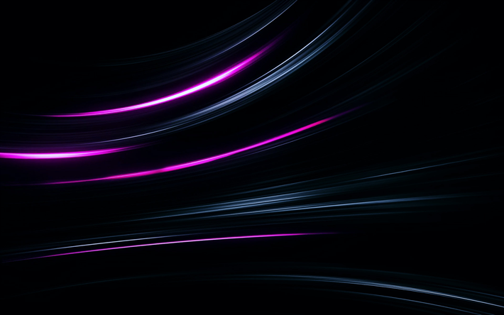 Download wallpapers neon lights, 4k, darkness, abstract