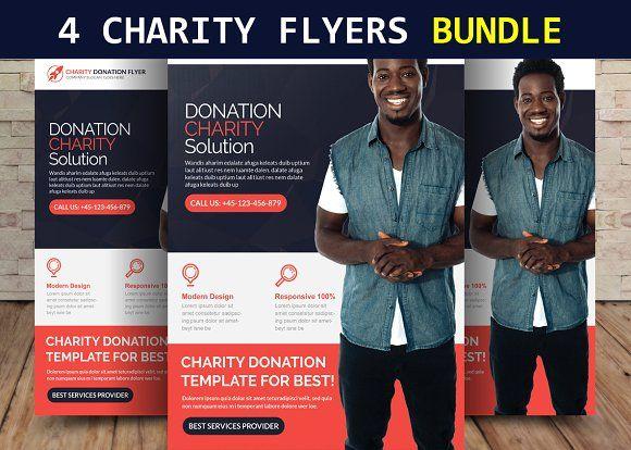 4 Charity Flyers Bundle The Greatest Flyer Templates Pinterest