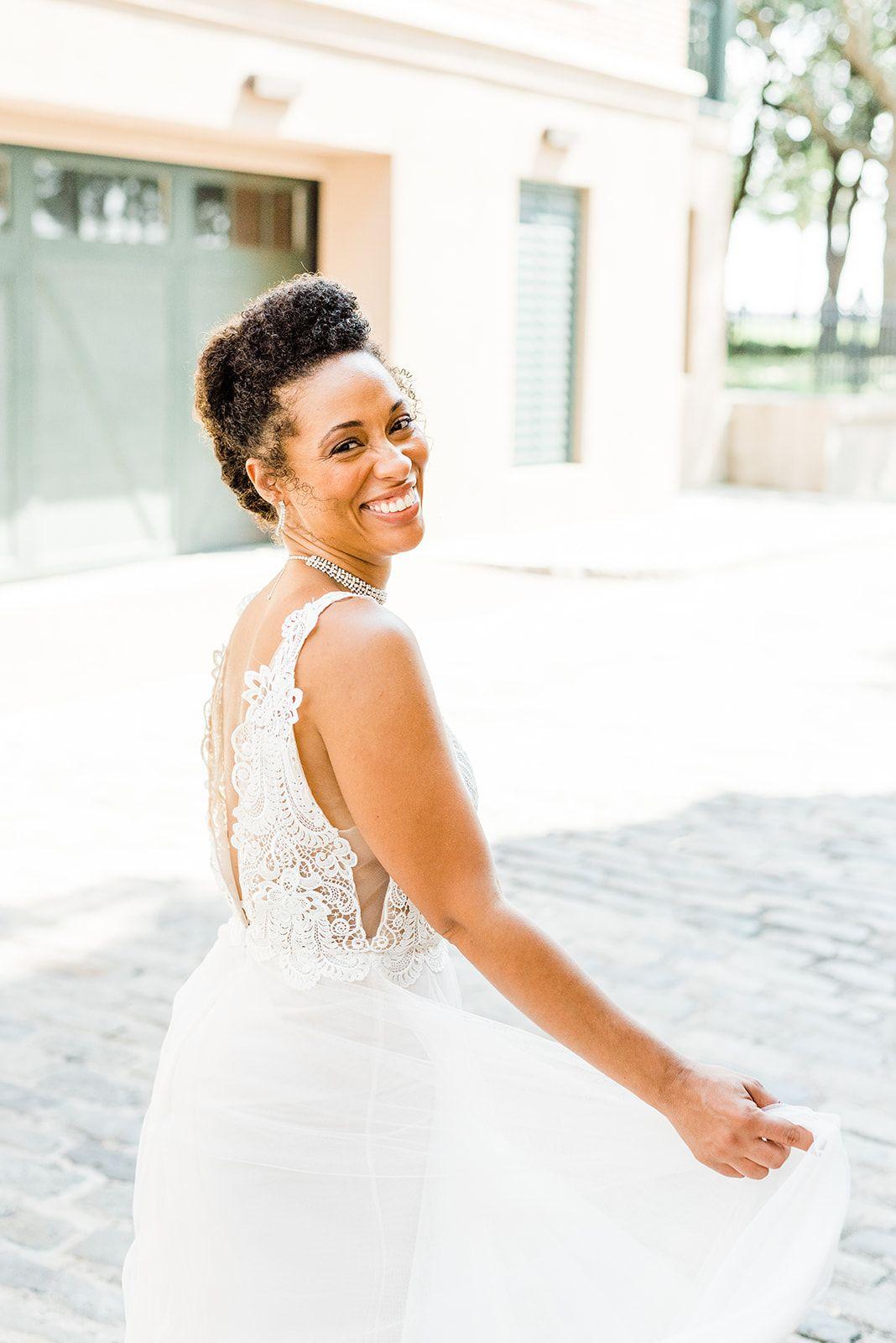 Natural Hair Bride in Charleston South Carolina. Hair and