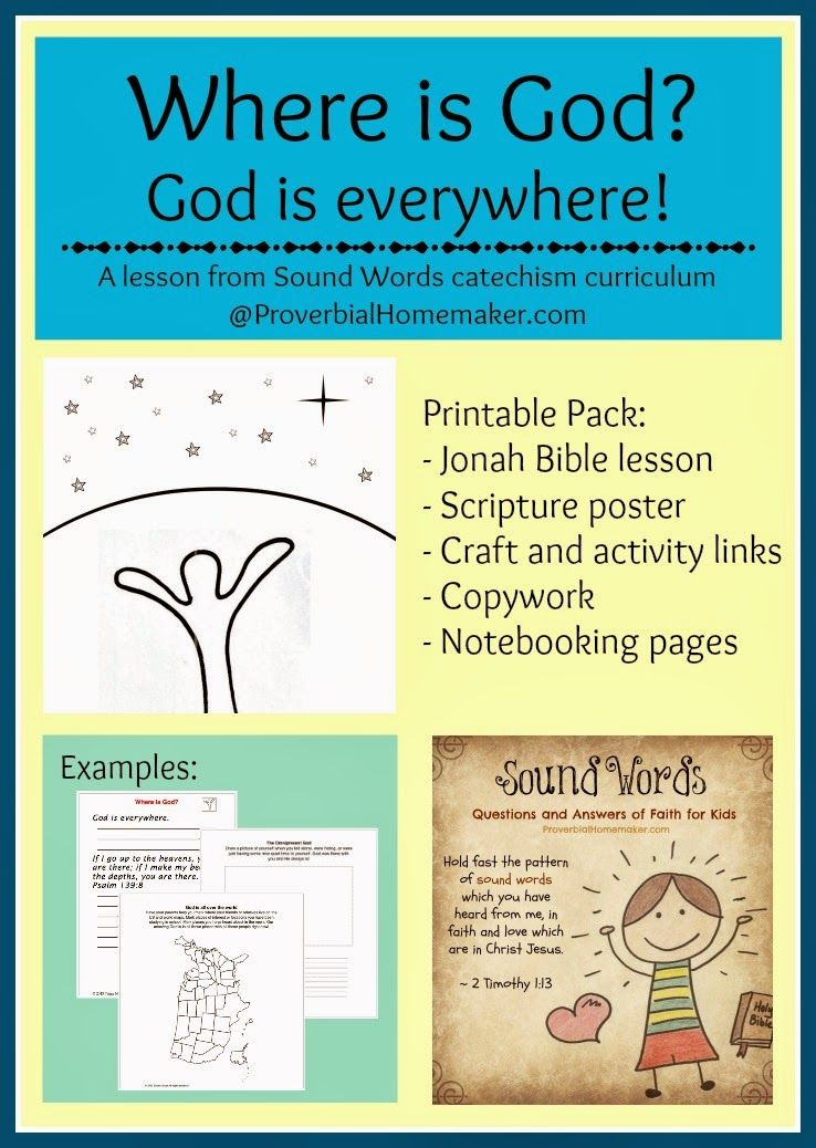 Free Printable! Bible Lesson: Where is God? (Sound Words ...