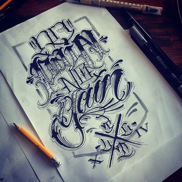 100 Tattoo Lettering Designs For Your Body Art: Tattoo Script Lettering