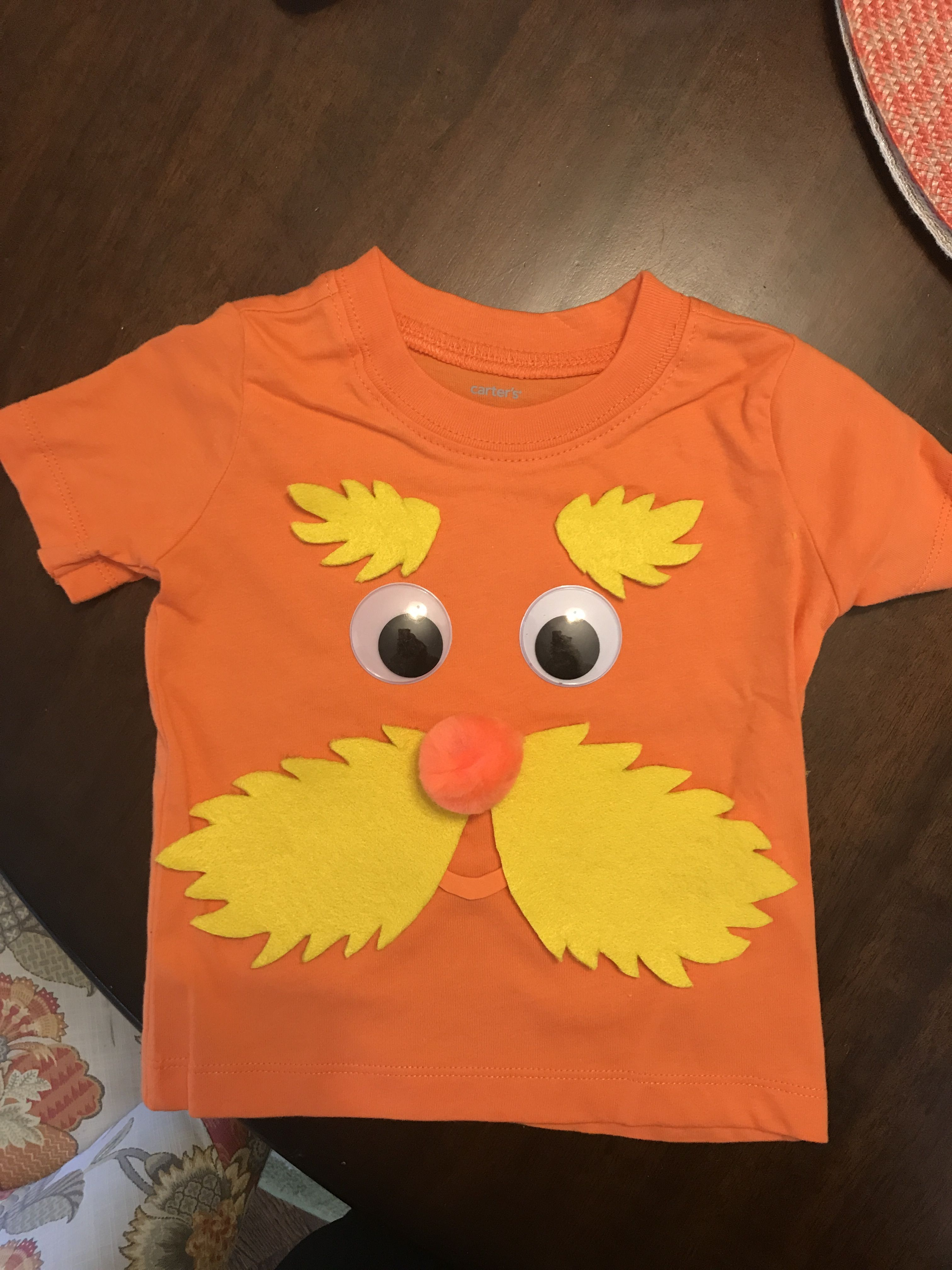 Diy Lorax Costume For Baby Dr Seuss Lorax Costume Book Characters Dress Up Dr Seuss Week