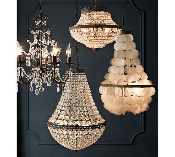 Paige Crystal Chandelier Entry