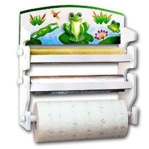 Frog 3 Roll Wrap Center Rack Paper Towel Foil Saran Frog