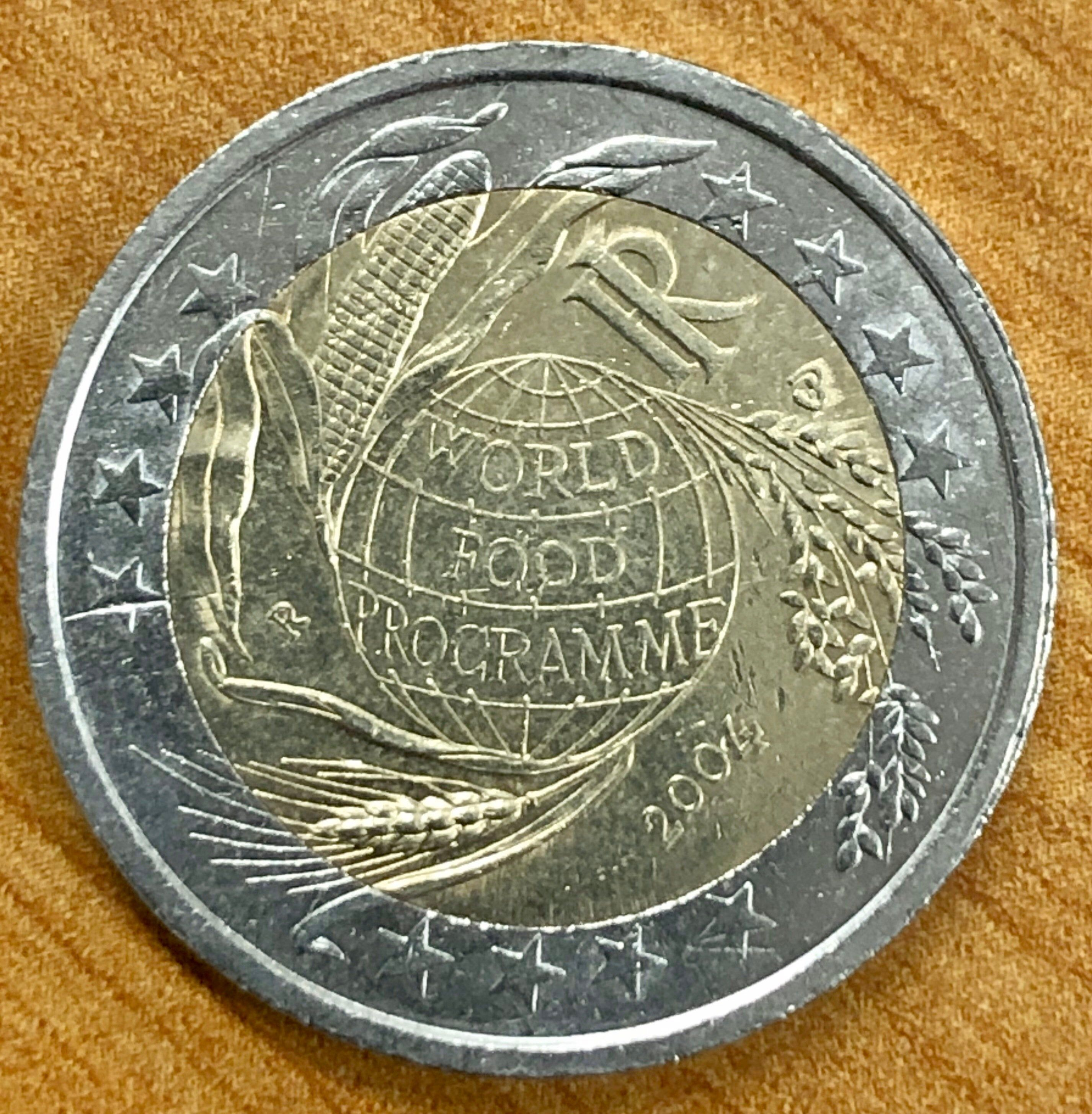 Coin 2 Euro Italy 2004 World Food Programme Commemorative In 2020 Coins World Food Programme Euro