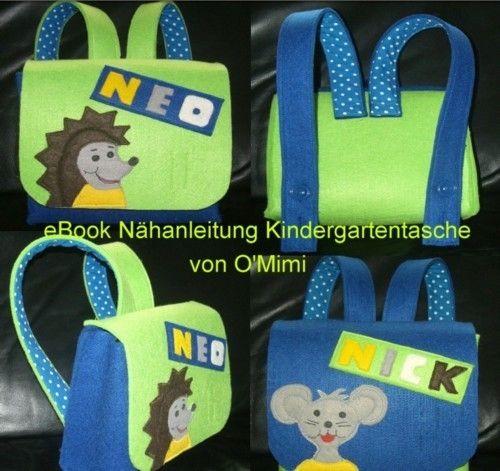 Kindergartentasche - eBook von O'Mimi auf DaWanda.com