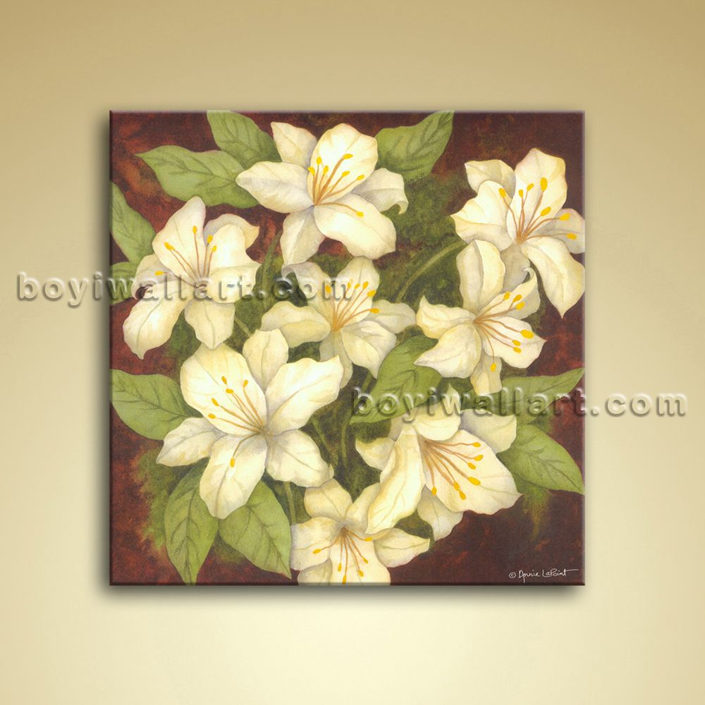 Contemporary Abstract Floral Painting Oil Picture On Canvas Wall Art ...