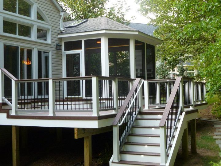 Trex Deck And Porch Combo Came Out Awesome Decks And Porches