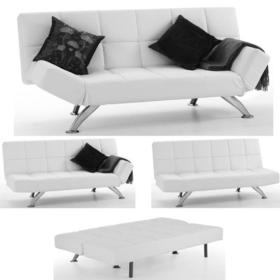 Venice Orchid White Faux Leather Sofa Beds White Leather Sofa Bed White Leather Sofas Faux Leather Sofa