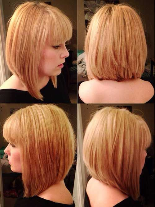 Medium Blonde Bob Hairstyles with Bangs