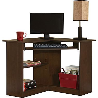 Easy2go Corner Computer Desk Resort Cherry At Staples Corner Computer Desk Small Computer Desk Computer Desk
