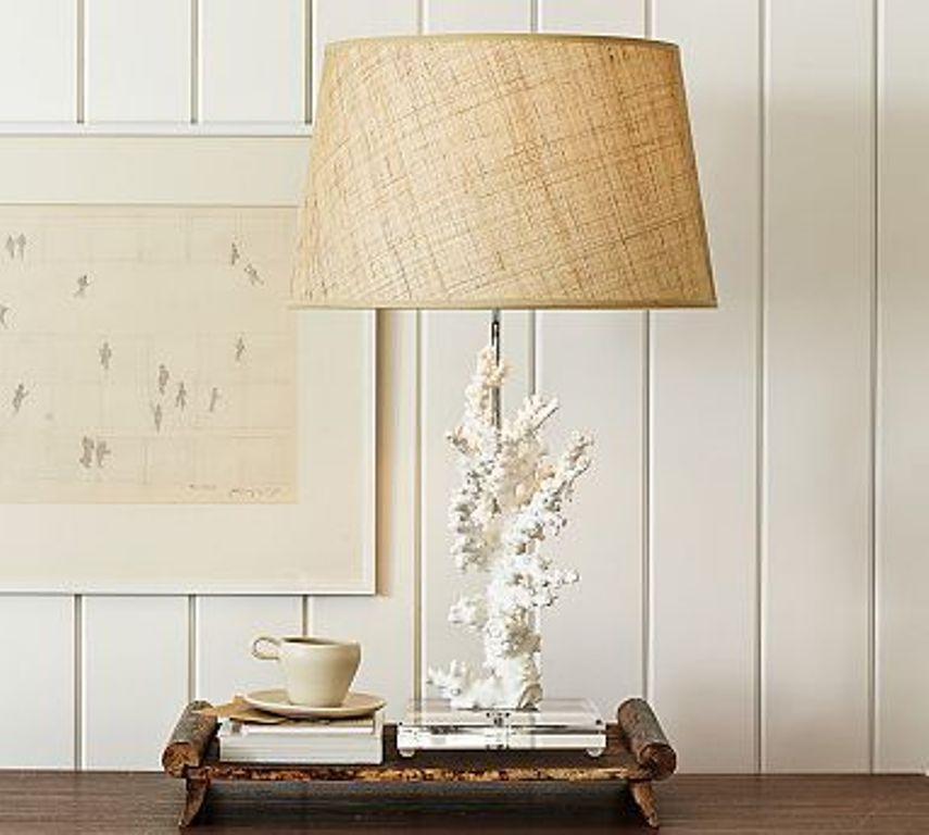 Captivating Coral Base Bedside Lamp